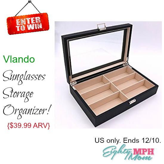 Vlando Sunglasses Storage Organizer giveaway