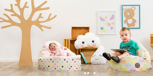 chibebe snuggle pod bean bag chair for kids