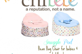 Chibebe Snuggle Pod bean bag chair for baby!