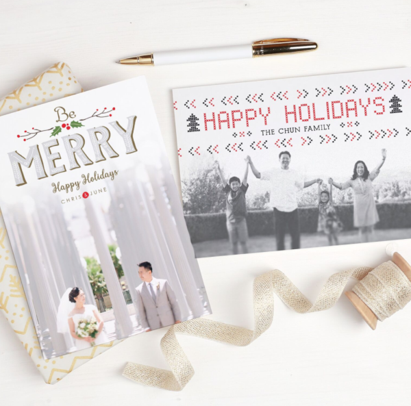 Basic Invite last minute personalized holiday cards