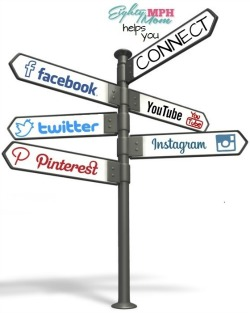 Connect Social Media sign