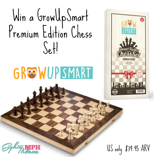 GrowUpSmart Chess set giveaway