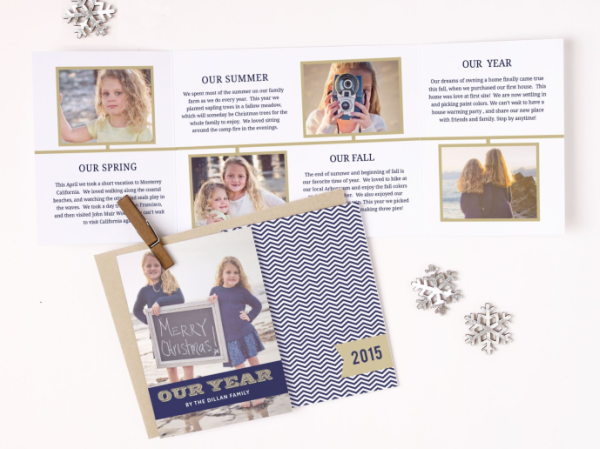 basic invite holiday cards with years news