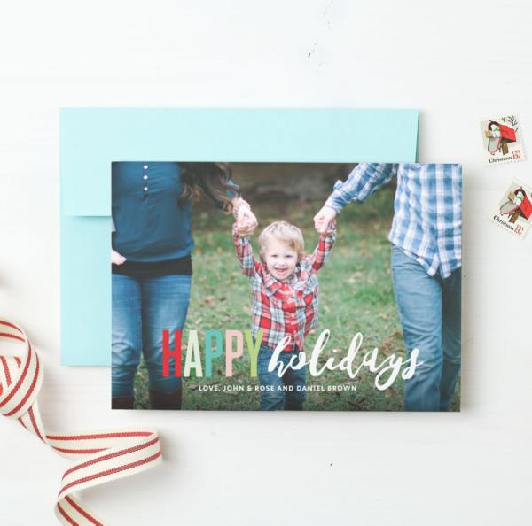 basic invite photo holiday cards