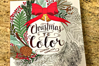 christmas to color adult coloring book