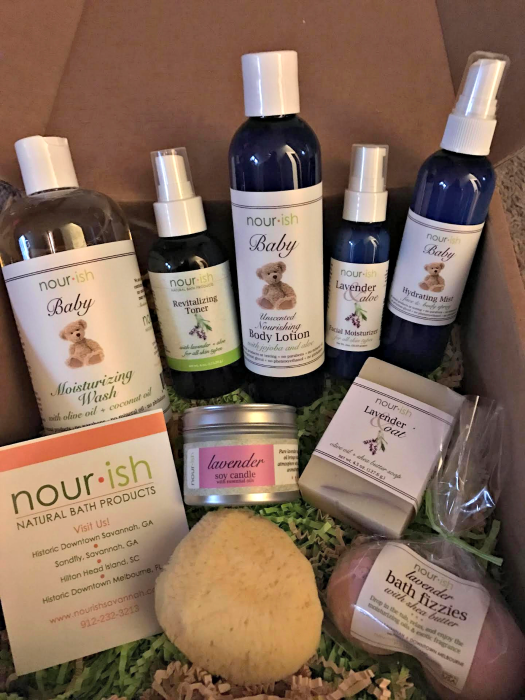 nourish natural bath product line