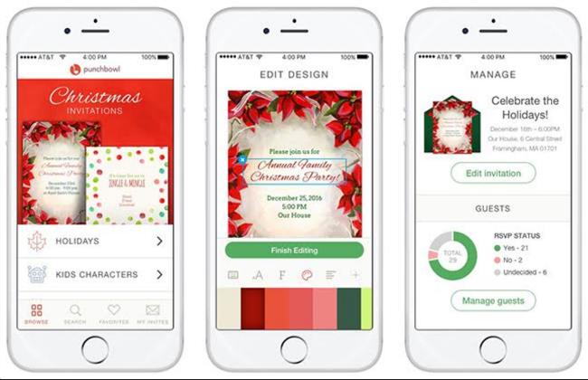 punchbowl digital invitations app