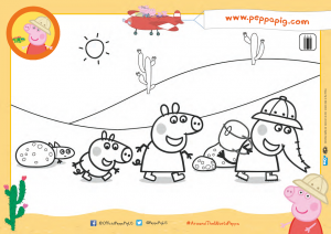 Peppa Pig Around the World with Peppa - Desert Activity Sheet