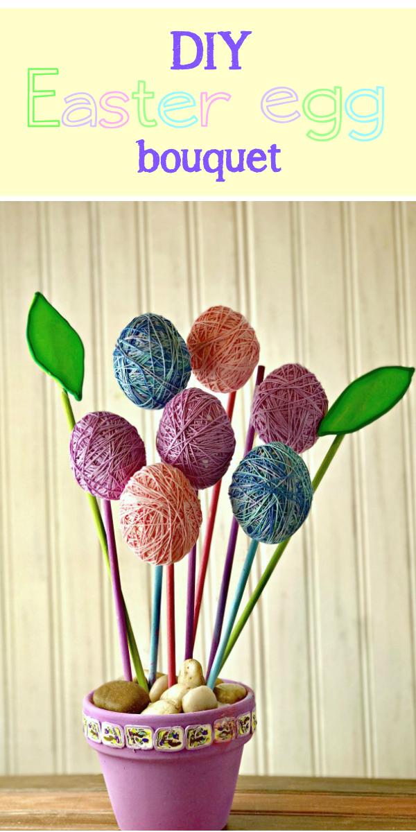 DIY Easter egg bouquet