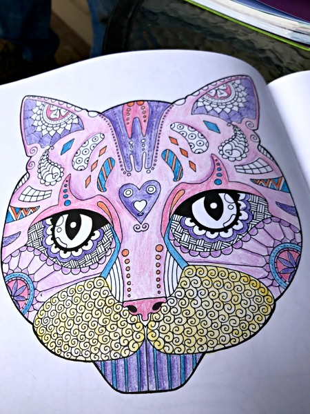 adult coloring book animals