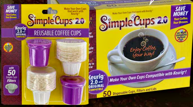 simple cups reusable filters