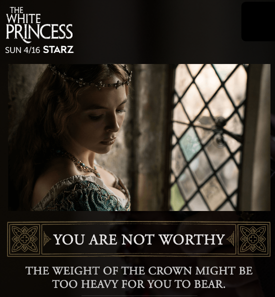 The white princess quiz