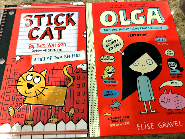 Stick Cat and Olga and the smelly thing from nowhere books