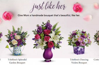 Teleflora Mother's Day Flower Bouquets {$75 teleflora gift card Giveaway!}