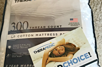 Therapedic 300-Thread Count Mattress Pad review