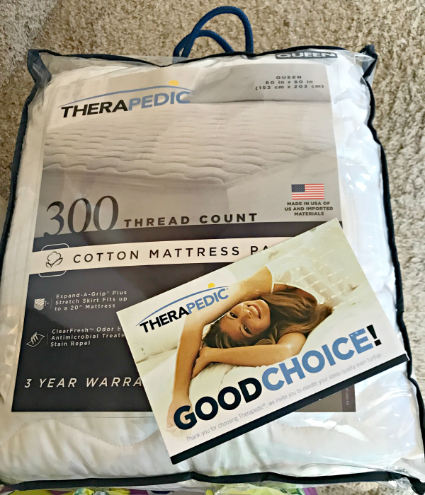 Therapedic® 300-Thread Count Mattress Pad