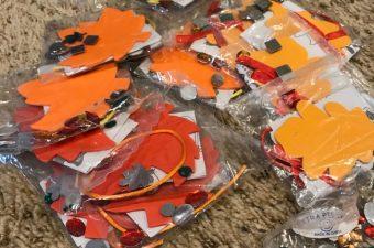 OT Craft leaves in plastic