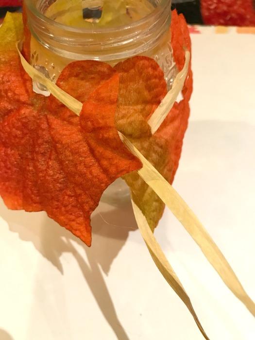 leaves on jar