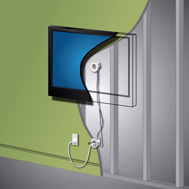 Hide those ugly cords behind the wall