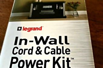 Legrand In Wall Power Kit – Hide those ugly cords behind the wall!