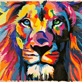 colour talk lion