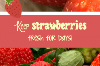 Make your strawberries stay fresh longer – simple tip!