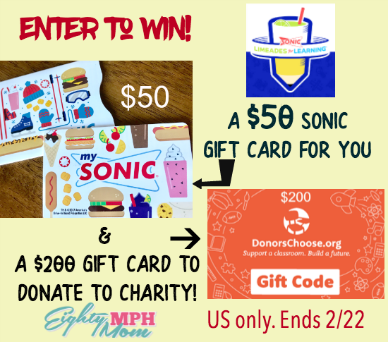 SONIC & DonorsChoose.org - helping teachers across the nation!