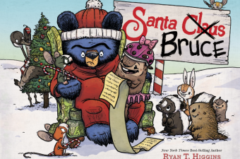 Santa Bruce book in stores now!