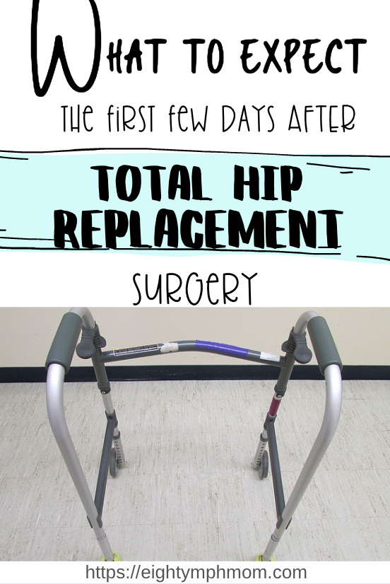 What to expect in the days after hip surgery