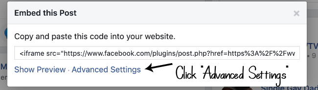 How to get the link to a Facebook post