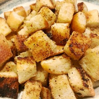 homemade crispy chewy croutons