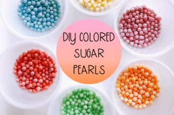 DIY Colored Sugar Pearls