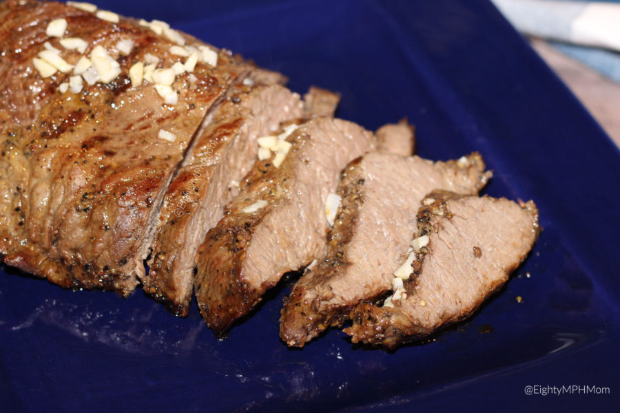 Tri tip Sirloin Roast with garlic and butter sauce