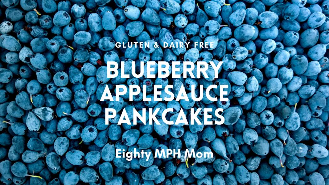 Gluten free blueberry applesauce pancakes