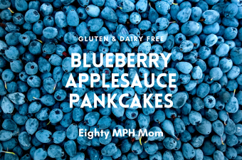 blueberry applesauce pancake image
