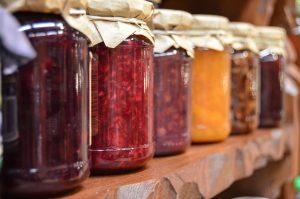 colorful food jars
