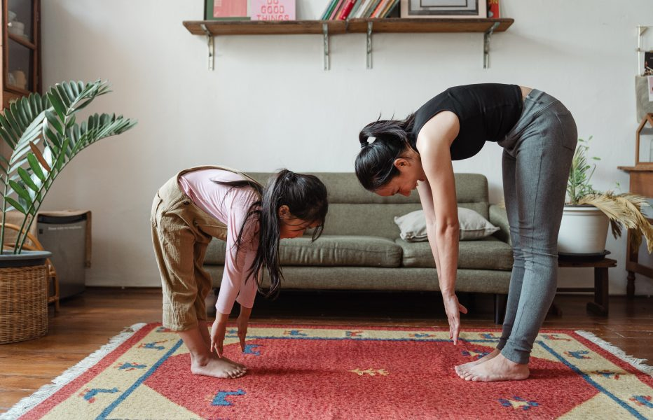 Exercising with family