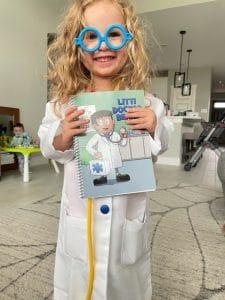 Child wearing Doctor Set